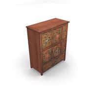 maya size tibetan painted cabinet