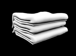 3d model folded towels