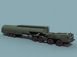 soviet airfield fuel tanker 3d model