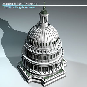 3d model capitol dome