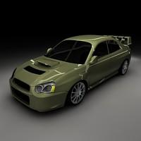 3d model impreza rally imported