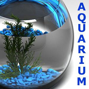 3d model of aquarium aquatic