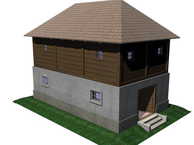 3d model of sidewalk store