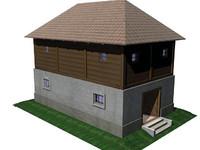 3d model of sidewalk store