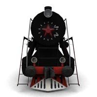 3d low-poly steam locomotive l model