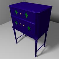 3d decorative chest