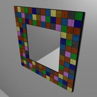 decorative mirror wall 3d lwo
