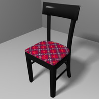 3d model black chair