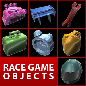3ds max racing objects