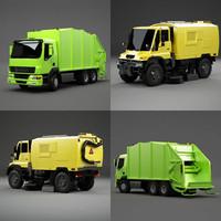 3dsmax sweeper truck garbage