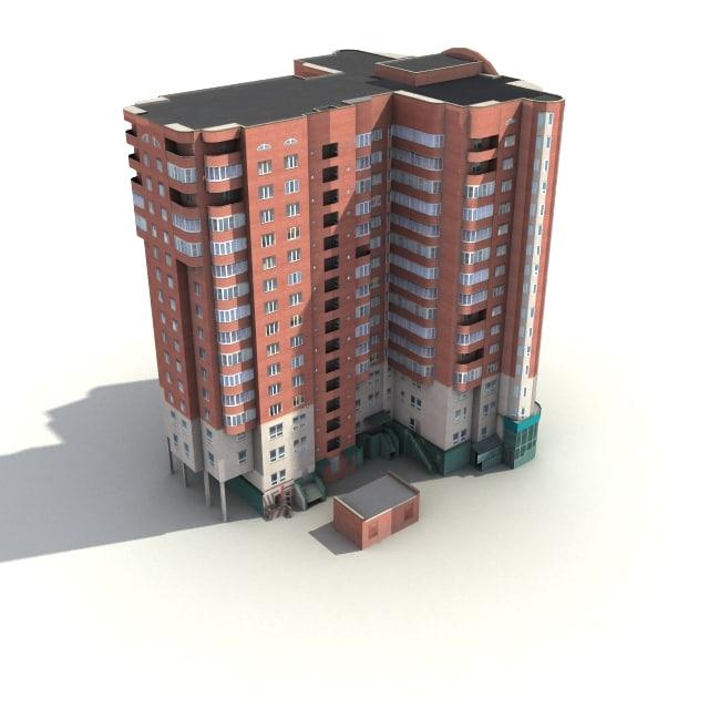 low-poly building 01 3d model