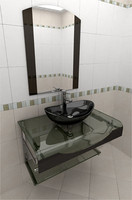 Glass wash-basin