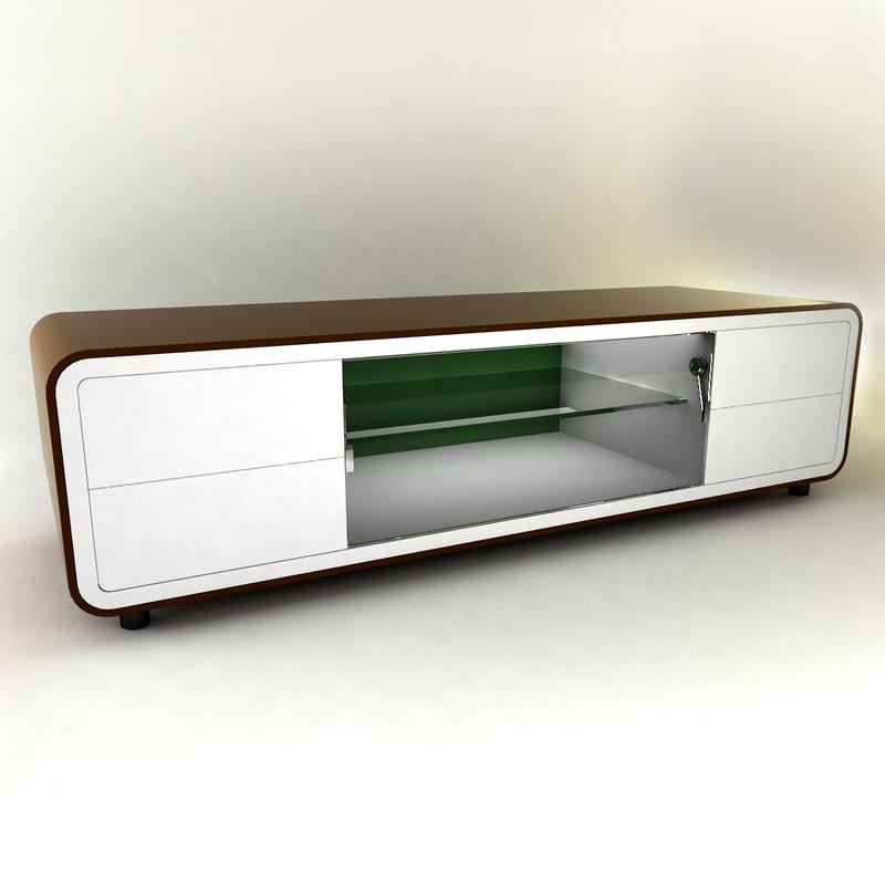 modern furniture tv cabinet 3d model