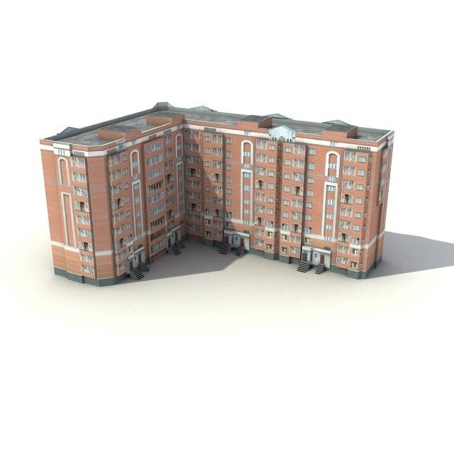 3d low-poly building 02