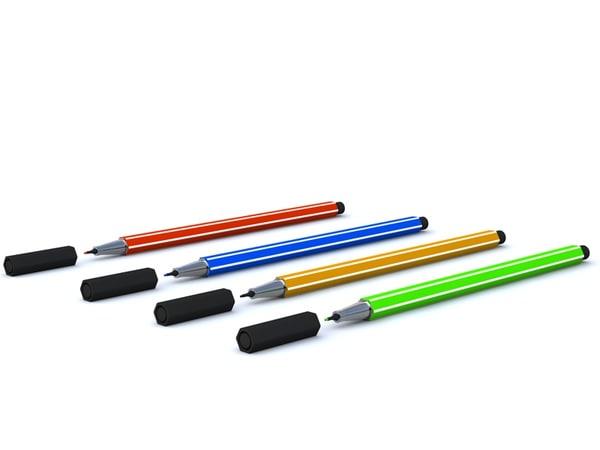 stabilo pen 3d model