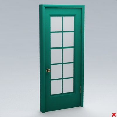 3ds glass door