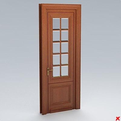 glass door 3d dxf