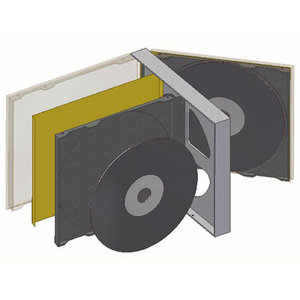 double cd case 3d model