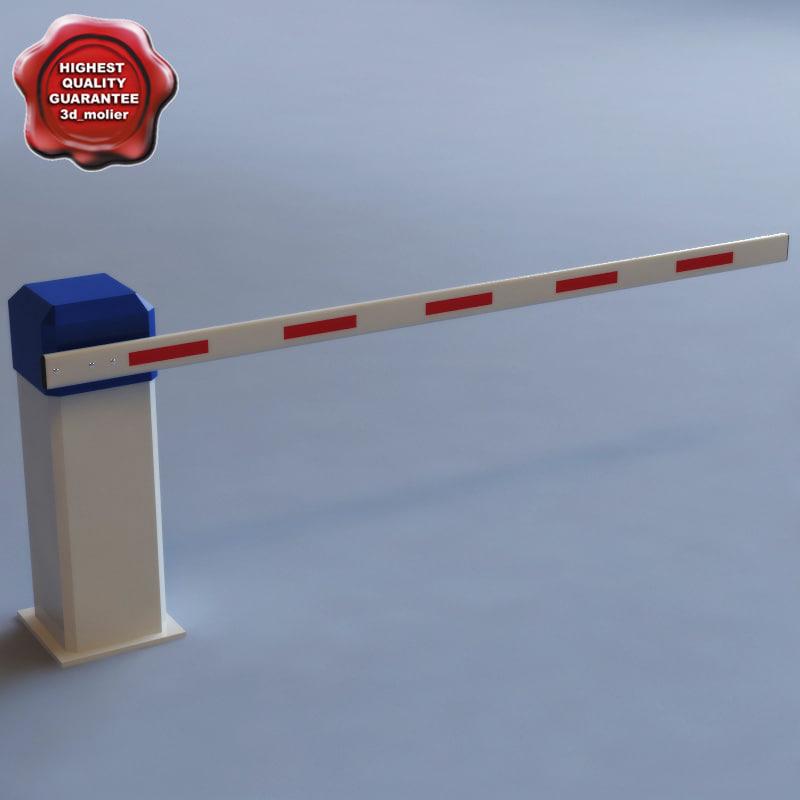 3d model automatic barrier v1
