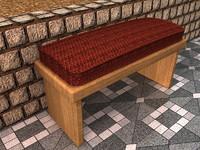 garden bench 3ds