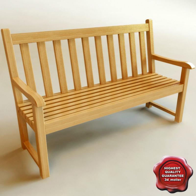 bench v2 3d 3ds