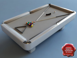 billiard-table interior modelled 3d model