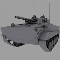 3d russian army apc tank model