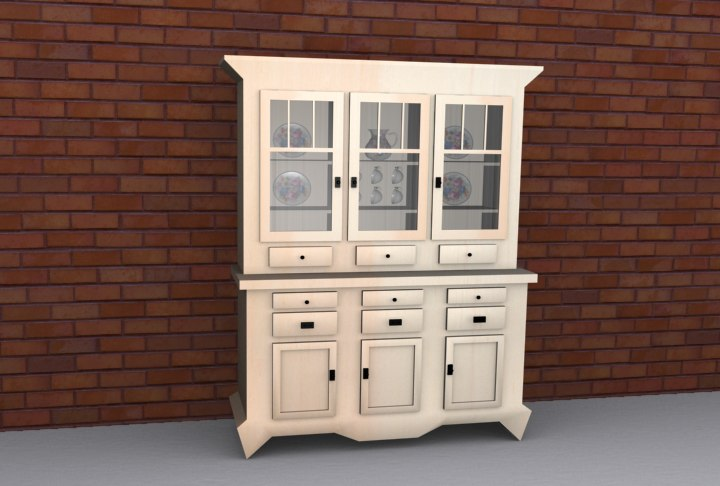 3d model china cabinet