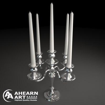 3d model candelabra candlestick