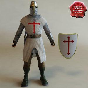 crusader modelled sword c4d