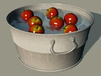 maya bobbing apples washtub