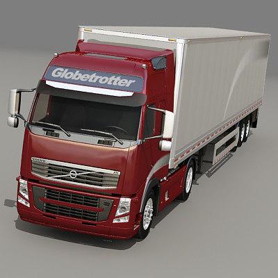 3ds max fh semi truck
