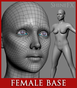 3d base attractive female character model
