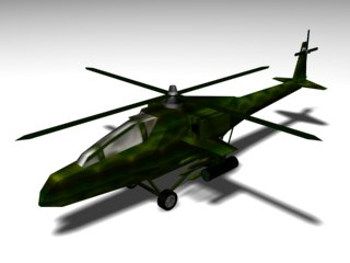 military helicopter 3d model