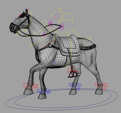 photoreal horse rig 3d model