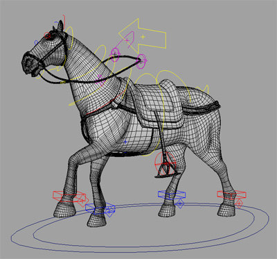 Photoreal Horse Rig 3d Model
