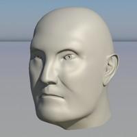 3d human head character - model