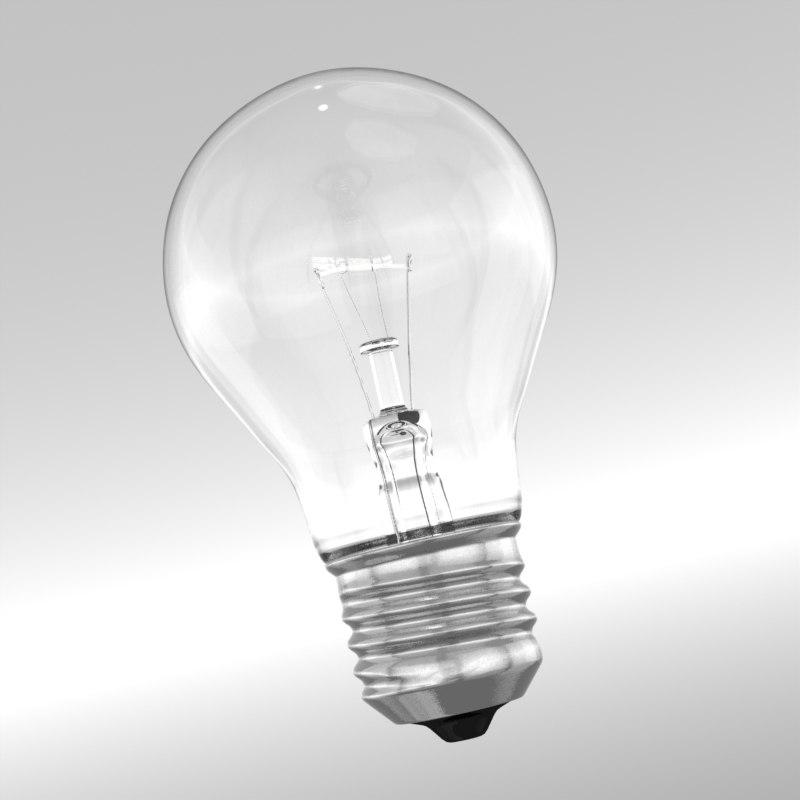light bulb 3d lwo