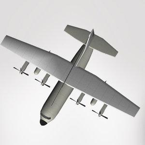 transport lockheed c-130 hercules 3d model