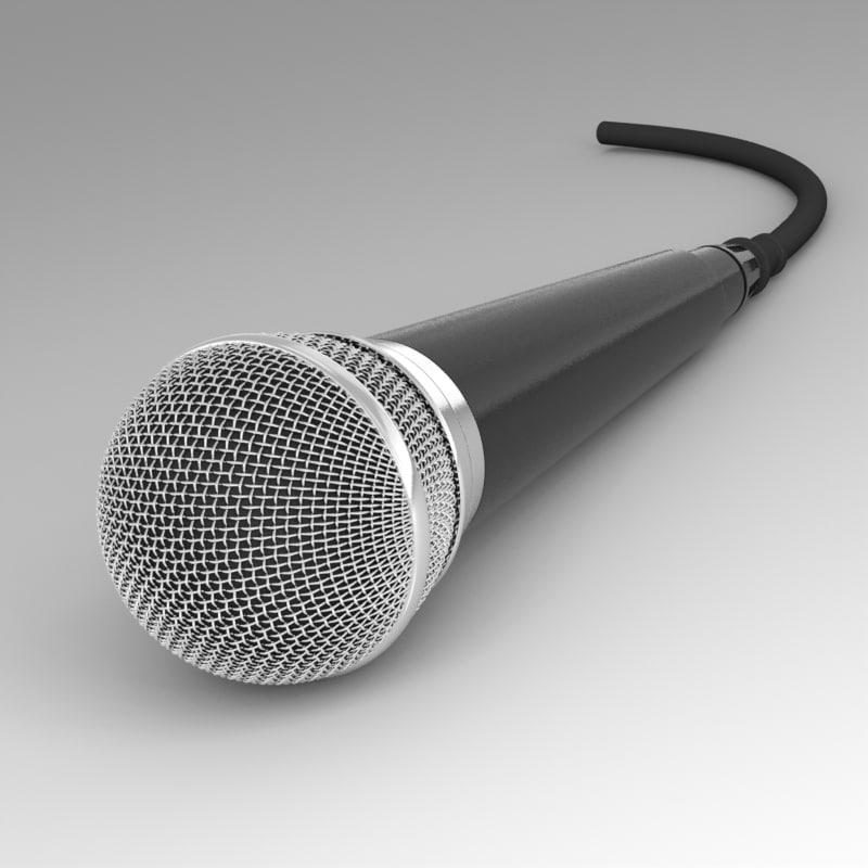 3d microphone mesh model