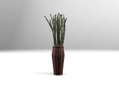 Max Vase Bamboo Sticks