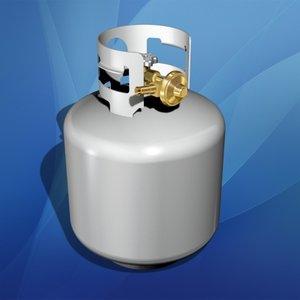 3d model propane tank cylinder