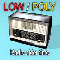Radio Old Time ( Low poly )