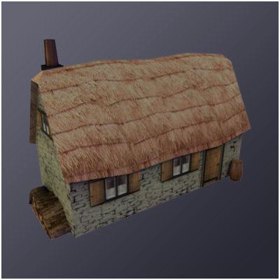 european cottage brick 3d model