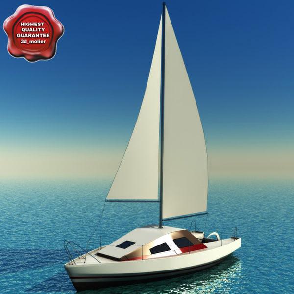 3dsmax sailing yacht scat