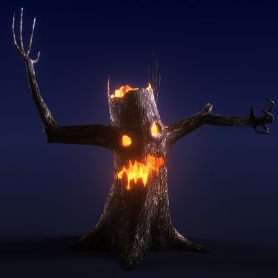 3d scary tree model