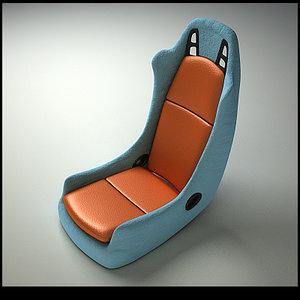 sport car seat 05 3d 3ds