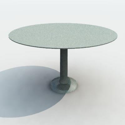 3d bistro table model