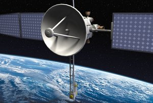 lightwave communications satellite