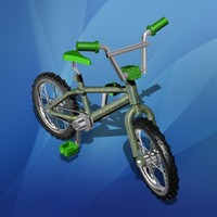 toy bicycle 3d model